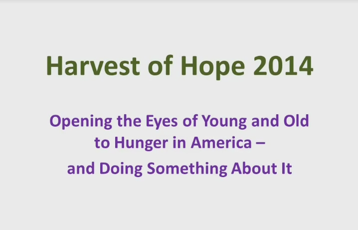 Harvest of Hope 2014