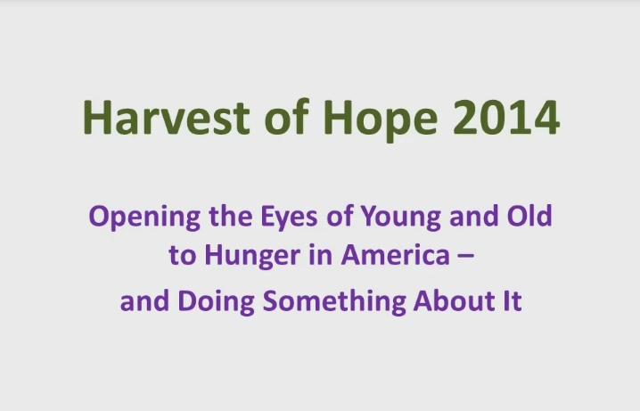 Harvest of Hope 2014