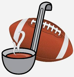 Souper Bowl Ladle and Football