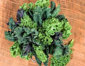 Red and Green Kale Arrangement