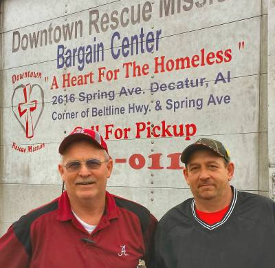 Two men from the Downtown Rescue Mission.