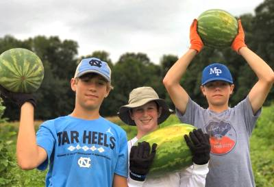Boys with melons