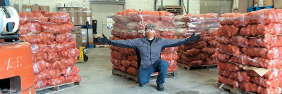 Indiana - Truckload of Potatoes